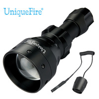 UniqueFire 1503 XM L T6 Led Flashlight White Light Tactical Adjustable Torch with Dual Control Remote Pressure Switch