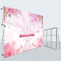 Индивидуальный заказ открытый фото струйный задний план печати рекламы тканевый плакат для Алюминий цветок стены складной Стенд рамки