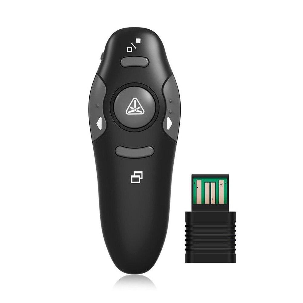 2.4 ghz Remoto Sem Fio Red Laser Pointer Apresentador Laser Vermelho Ponteiros Pen USB RF Controle Remoto Powerpoint PPT Apresentação
