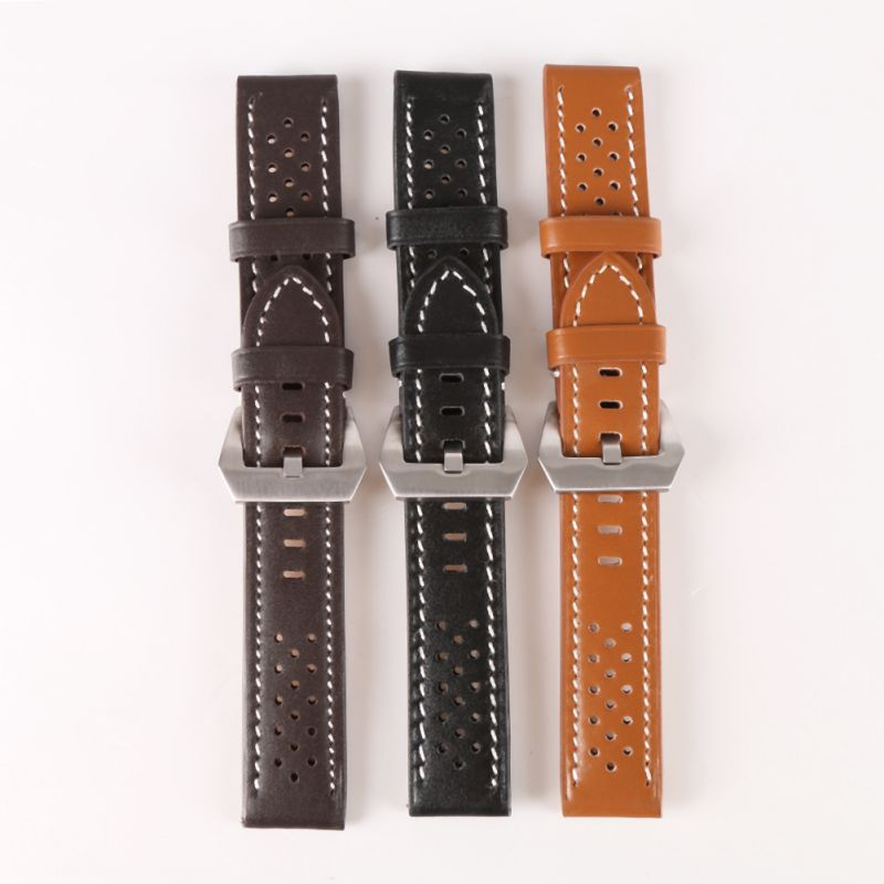 Genuine Leather Thick Band Strap Belt Silver Pin Buckle Men Lady Black Gray Green Dark Light Brown Watch Band 2 5cm bridge buckle belt buckle strap buckle bag accessories 50pcs gold silver