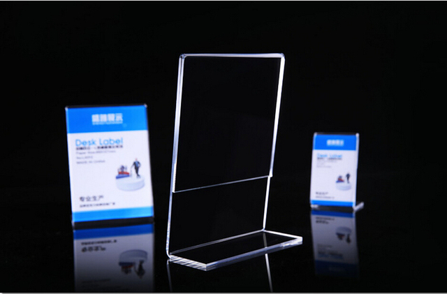 148x210mm l shape tag ticket card display stand a5 acrylic table