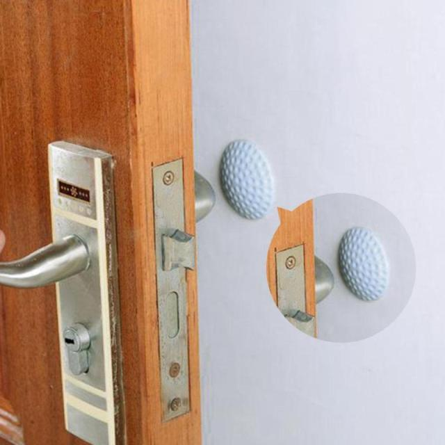 Wall Thickening Mute Fenders Door Wall Stick Golf Modelling Rubber Fender Handle Door Lock Protective Pad Home Wall Stickers