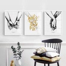 3 adet/takım Dropship Posterler ve Baskılar Aşk Soyut Karikatür Tuval Boyama Nordic Oturma Odası Duvar sanat resmi Ev Dekor
