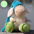 2016 Новый Горячий Продажа 25 см Германия Веселый Сонный Овец Плюшевые Куклы Животных Игрушки Дети Подарок На День Рождения 1 шт. Рождество подарки