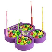 Color Random Fishing Game Board Electric Rotating Magnetic Fish Kids Music Educational Pretends Play font b