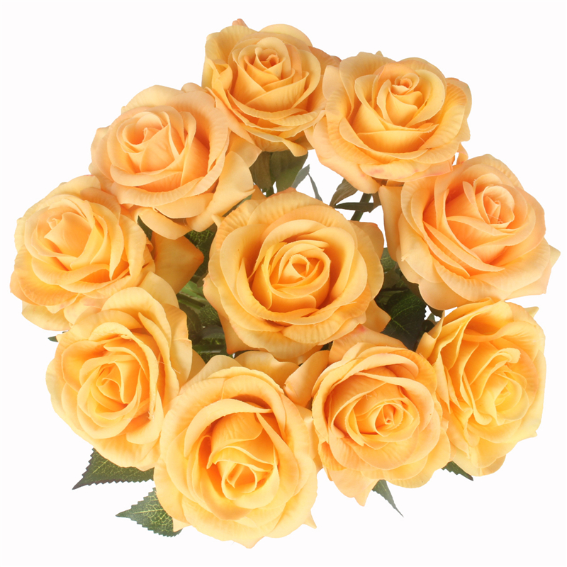 JAROWN Artificial Real Touch Hand Feel Rose Flowers For Valentine`s Day Preparation Wedding Decoration Home Decor (3)