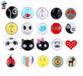 wholesale 20pcs /lot mix fashion metal crystal snap button charms fit snap button bracelet accessories