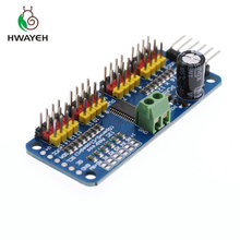 10 sztuk/partia 16 kanałowy 12 bit PWM/serwo Driver I2C interfejs PCA9685 moduł dla arduino lub Raspberry pi tarcza moduł serwo,