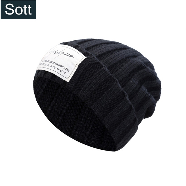 1dd81a25042  SOTT  Hot Fashion Stripe Winter Cap Warm Beanies For Men Women Skullies  Solid Bonnet Soft Knitted Hat Skating Skiing Winter Hat