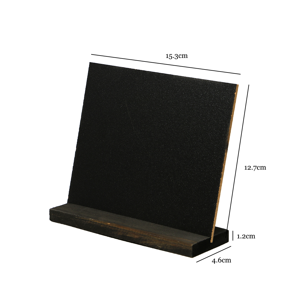 Hot Sale Tabletop Chalkboard Signs With Rustic Style Wood Base Stands Wooden Menu Stand Message Blackboard Bar Desktop Message