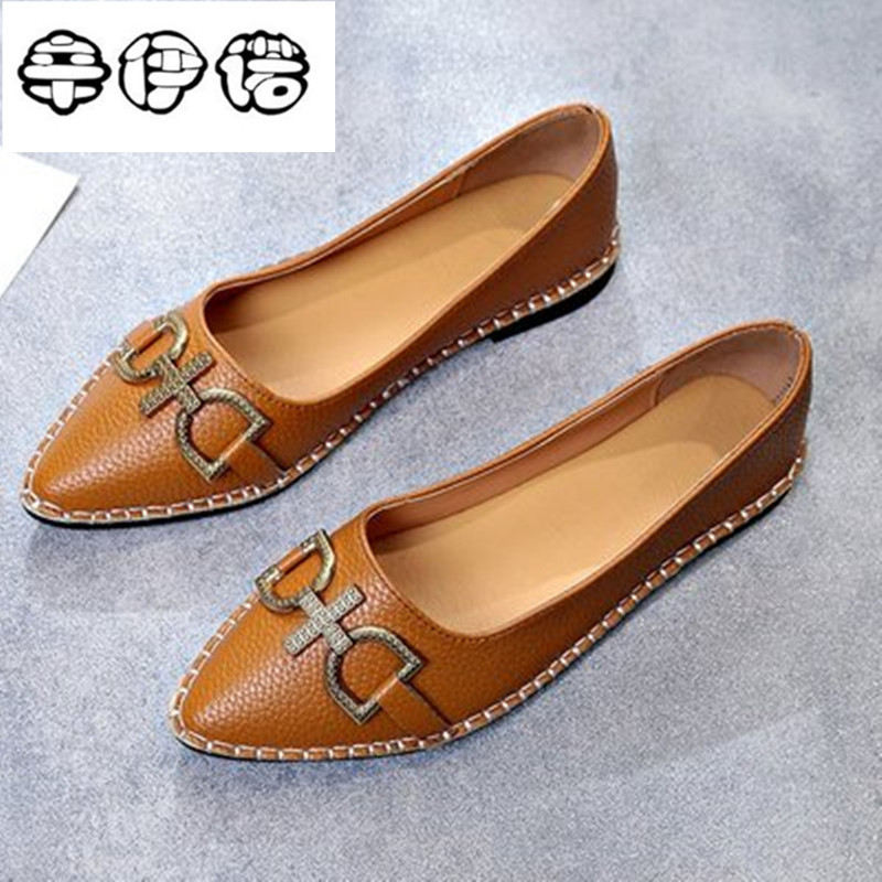 Cheap New Arrival 2018 Spring and Autumn Women's Loafers Loafers Women Flat Heel Shoes Boat Shoes Casual Free Shipping