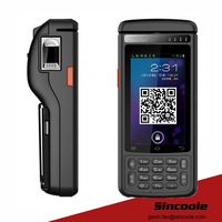 5 inch android 5.1 2D barcode thermal print and fingerprint handheld terminal