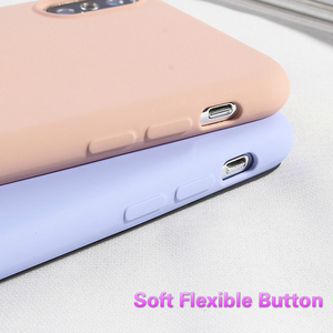 Image 4 - Coque de téléphone couleur bonbon pour iPhone 6 6s Plus XS XR XS MAX 7 8plus housses pour iPhone X de luxe à la mode souple en Silicone coque arrière en Silicone