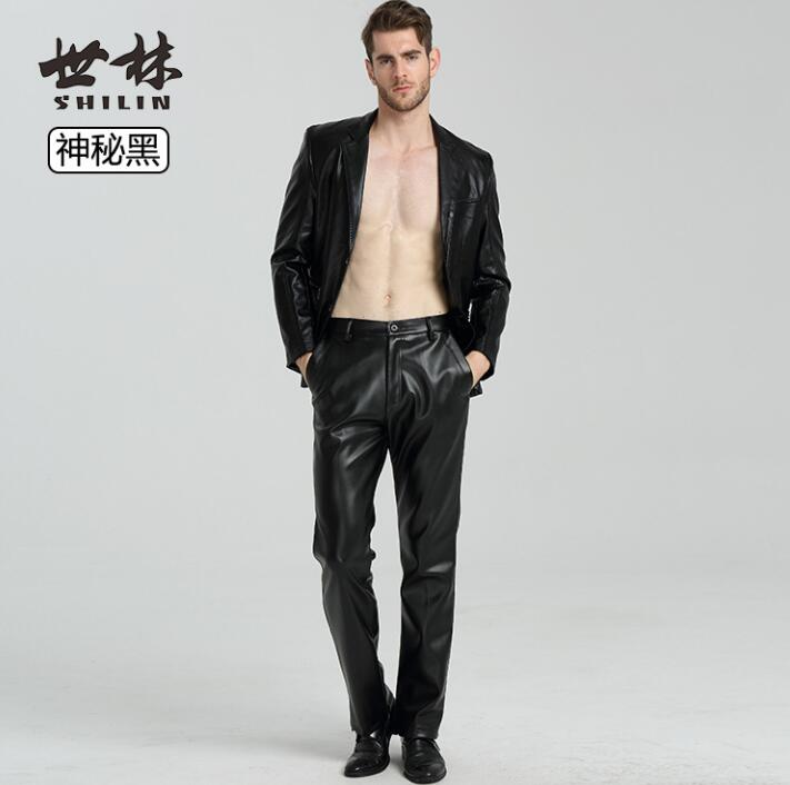 Free Shipping 2016 New Men Autumn Winter Worm Fleece Casual Straight Corduroy Pants High Elastic Waist