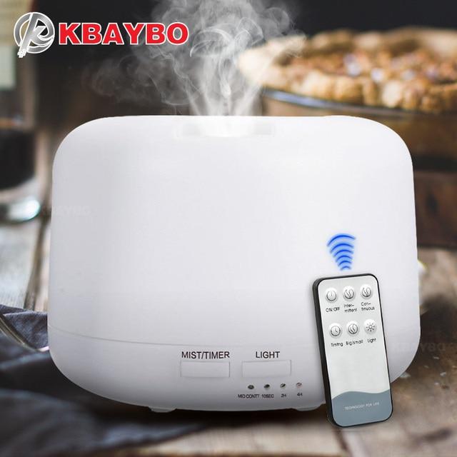 KBAYBO 300 ML Control remoto ultrasónico Aroma humidificador eléctrico aromaterapia aceite esencial difusor de Aroma