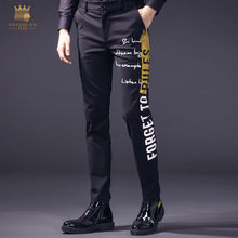 Fanzhuan free shipping new casual 2018 man male MENS spring stretch fashion digital printed skinny pants hip hop trousers 818020(China)