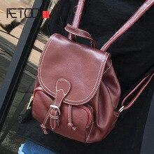 Aetoo новый корейский Вариант Ретро Сладкий Мини Флип кожа сумка Персонализированные Пряжка на ремешке небольшой рюкзак моды Handb
