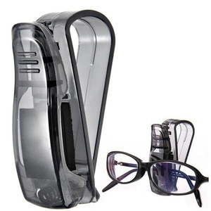Image 2 - Glasses Holder Car Accessories Sunglasses Holder ABS Auto Fastener Sun Visor Glasses Case Ticket Clip Card Holder Mount