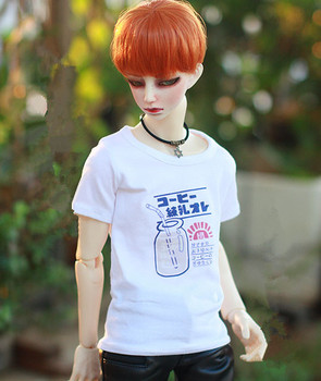 BJD doll shirt white T shirt with printing for 1/6 BJD YOSD doll clothes accessories