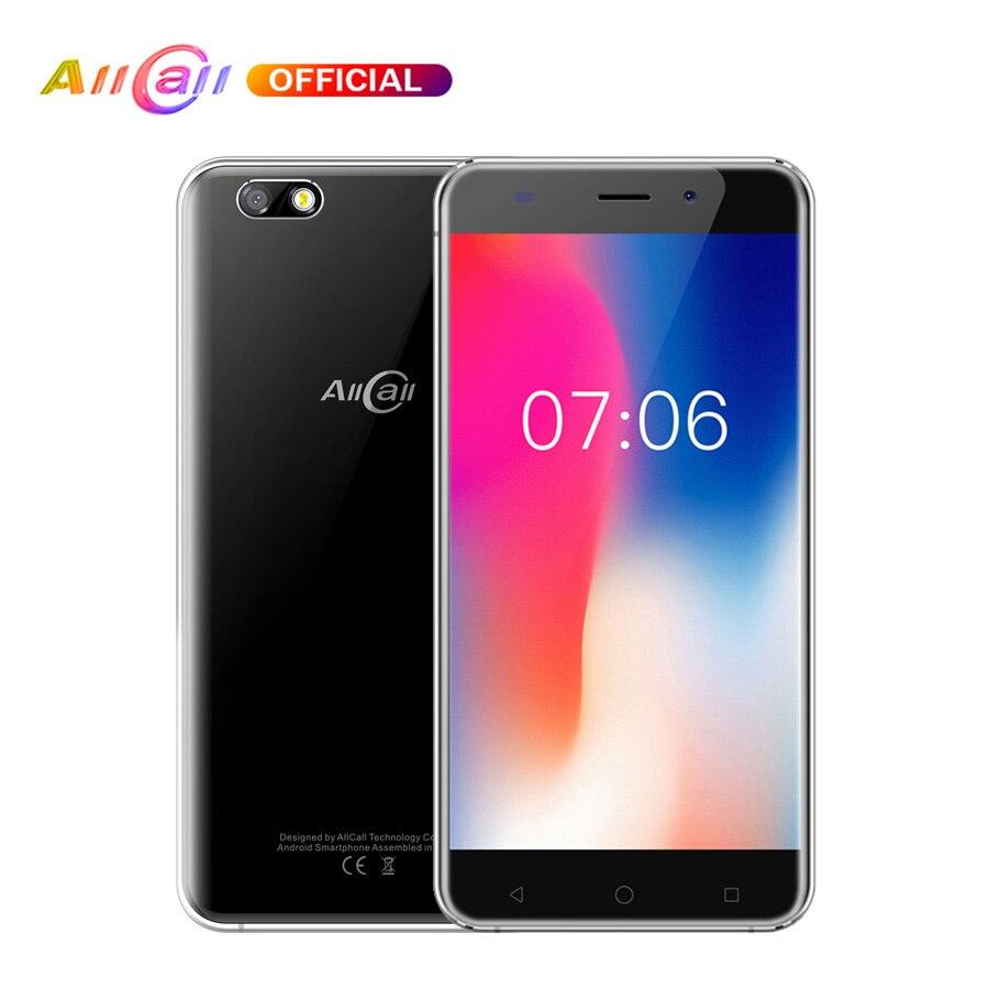 In Stock! Original AllCall Madrid 5.5 Inch HD Dual SIM Android 7.0 MT6580 Quad Core 1GB RAM 8GB ROM 8.0MP 3G WCDMA Mobile Phone