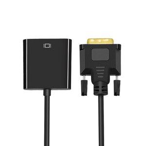 TISHRIC 10Pcs DVI-D DVI To VGA Converter Adapter Video Cable 24+1 25Pin DVI-D To VGA 15Pin Active 1080P For Projector TV PS3 PC