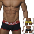 New Arrival Mens Underwear Boxers Short,Solid Color,Three Colors,Hotsale addicted 2 pcs a lot free shipping