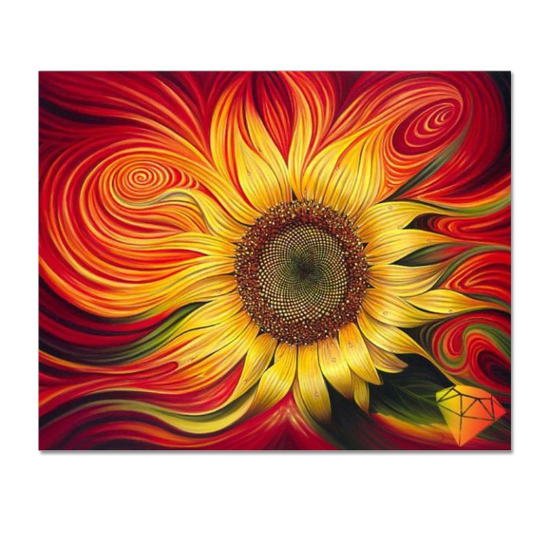 DIY 5D Diamond Mosaic sunflowers Diamond Painting Cross Stitch Kits Diamond Embroidery shinny Square rhinestones Home Decoration