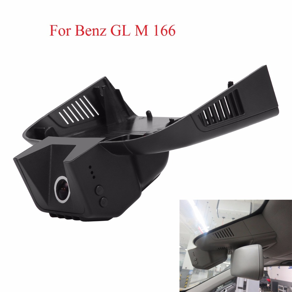 WIFI Cameras For Benz GL M 166 DVR Dash Cam Night Vision Dash Camcorder WDR Hidden Insta ...