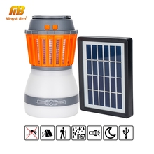 LED Solar Mosquito Killer Lamp USB Charging LED UV Light Pest Insect Electronic Repellent Portable LED Camping Light For Outdoor