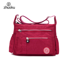 New Women Messenger Bags for Women Waterproof Nylon Handbag Female Shoulder Bag Ladies Crossbody Bags bolsa sac a main femme de(China)
