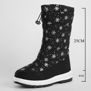 Image 5 - JCHQD 2019 الشتاء النساء الأحذية منتصف العجل أسفل الأحذية أفخم نعل بوتاس الإناث مقاوم للماء السيدات الثلوج أحذية الفتيات أحذية امرأة