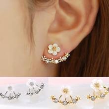 Crystal Stud Earrings Boucle d'oreille Femme 2016 Fashion Flower Earrings for Women Gold Bijoux Jewelry Brincos Pendientes Mujer