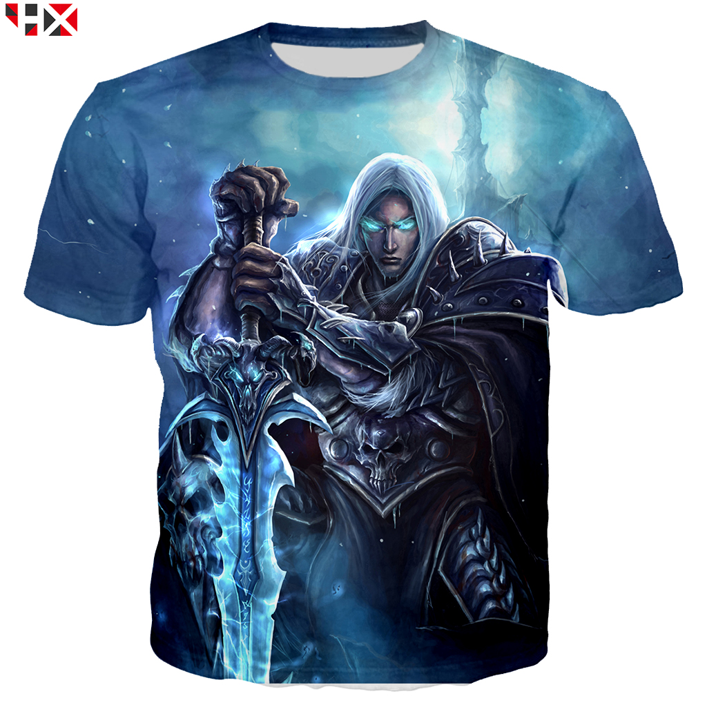 Summer Game Warcraft Women/Men T Shirt 3D Print T Shirts Asian Size S-5XL Casual Harajuku Style T Shirt Streetwear Tops X222
