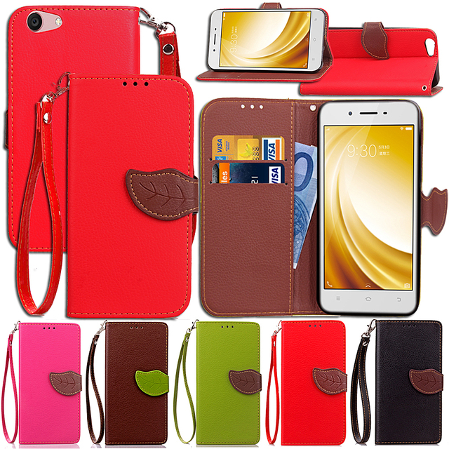 san francisco 26dd7 b01d1 US $4.64 7% OFF|Leaf Case for BBK Vivo Y53 Flip Case Wallet Phone Leather  Cover for Vivo Y 53-in Flip Cases from Cellphones & Telecommunications on  ...