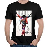 Uomo Michael Jackson Re del Pop Beat It Billie Jean Girocollo uomo T shirt O Collo di Modo Del Cotone stampato t-shirt per uomo