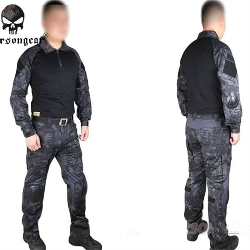 Kryptek Typhon Emerson Gen2 Combat uniform Tactical gear shirt and pants Army BDU Suits EM6927TYP typhon tactical combat uniform jacket pants kryptek suit airsoft hiking camping hunting gear set 11 color for chooseen