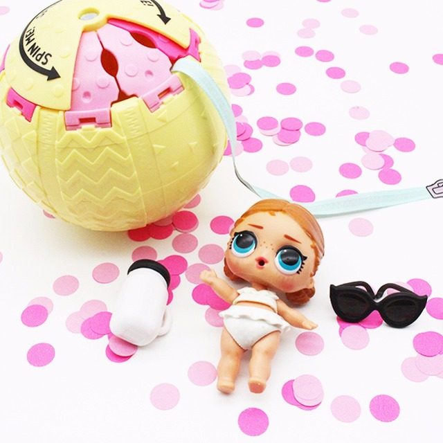 1pcs 10cm Lol Dolls In Ball Toys For Girls Adults Confetti Pop Gifts