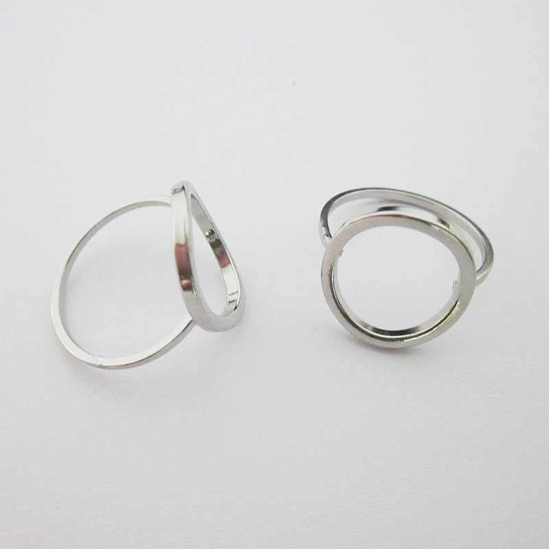 fashion jewelry accessories brass copper circle rings for women  about 17mm inner diameter