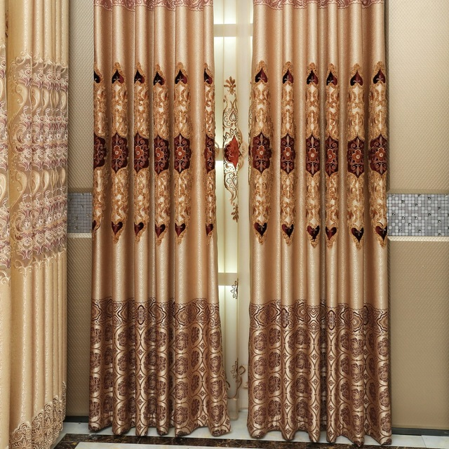 Luxury European Jacquard Curtains Finished Germany Imported Machine With Laser Shading Cloth Tapestry Curtain Fabric