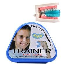 1 шт. T4K детей зубной Ортодонтическая техника Тренер Дети выравнивания Подтяжки Мундштуки для зубов Прямо зубов Уход