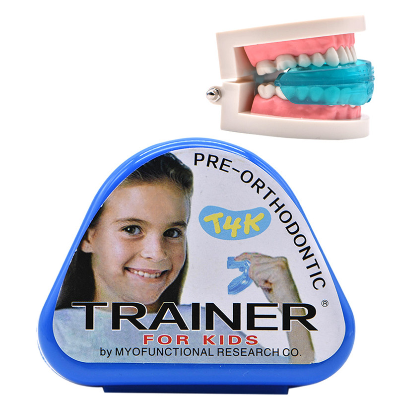 1pc T4K Children Dental Tooth Orthodontic Appliance Trainer Kids Alignment Braces Mouthpieces for Teeth Straight Tooth Care