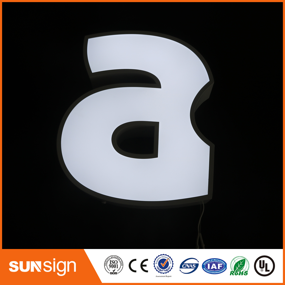 Aliexpress Factory Outlet Outdoor Waterproof High Brightness Acrylic Stainless Steel Led Sign Letters