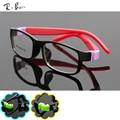 RTBOFY Оптические очки кадр для Детей дети близорукость кадров очки Ребенок стекло прозрачное малыша мальчики девочки Резиновая JR-8812