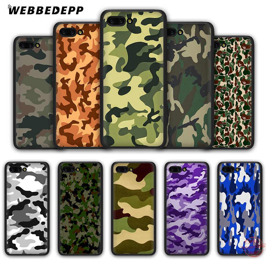 WEBBEDEPP patrón de camuflaje Camo ejército caso suave para Honor 20 10 9 9X8 Lite 8C 8X 7X 7C 7A 3GB 6A Pro 20