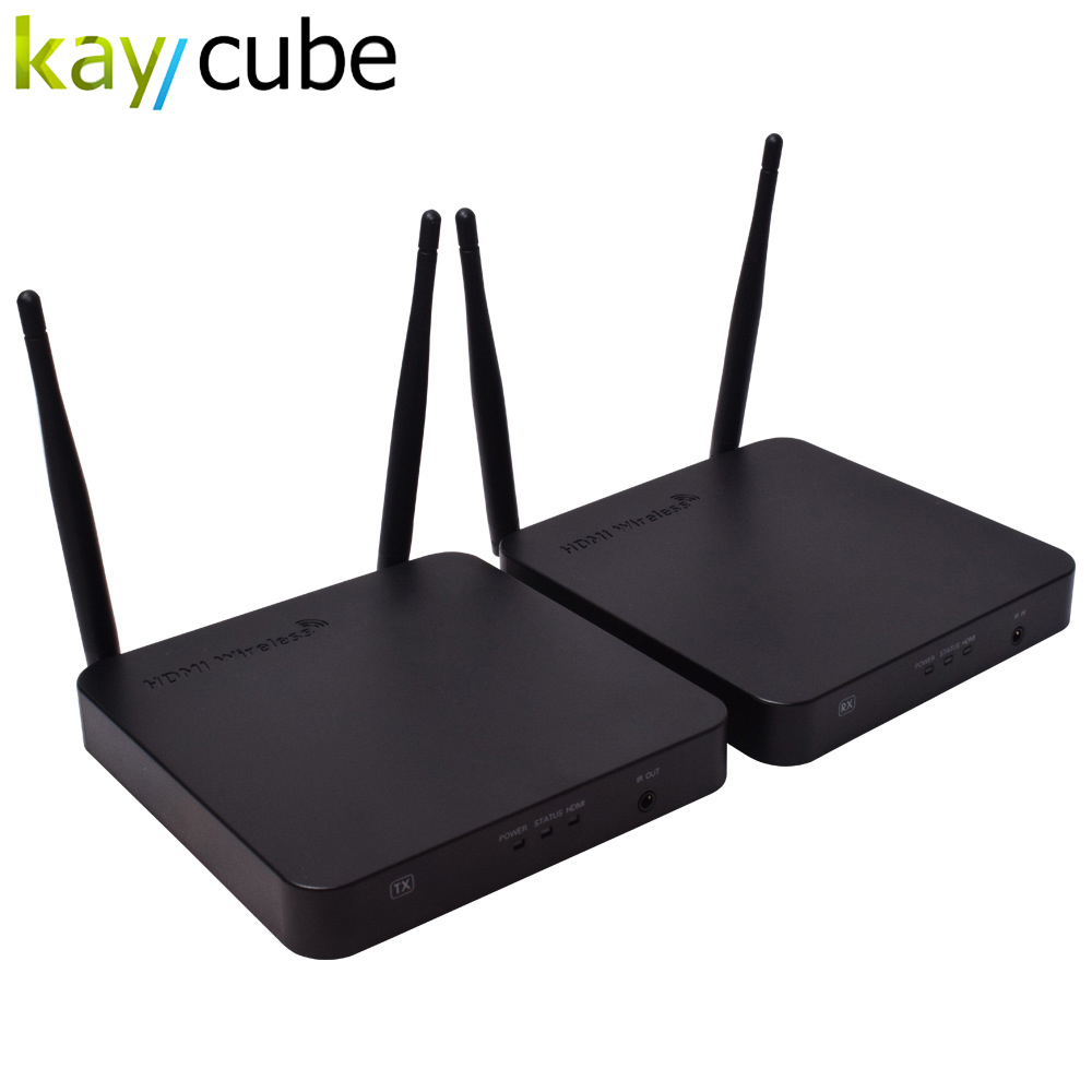 kaycube HDMI Wireless Extender 100m WIFI audio and video transmitter 2.4/5G 1080P IR HDMI over Wireless HDMI for PC HDTV DVD hdmi extender over coaxial cable 300m 1080p with video lossless and no latency time to bnc rg59 rg 6u hdmi transmitter receiver