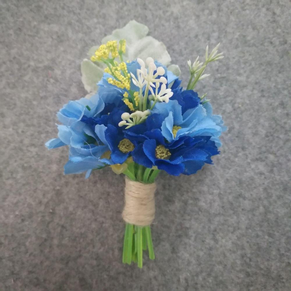 Artificial Silk Flower Groom Boutonniere Man Buttonholes