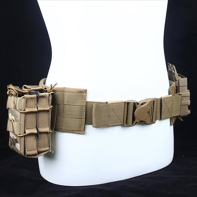 2018 New outdoor sports vets Function Army Fans Tactic Waist Seal More Function Man Other Belt MOLLE Load Belt Waist Bring