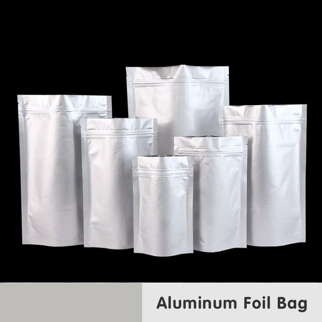 Stand Capacity Large Aluminum Foil Zip Lock Packaging Mylar Bag Baking Food Smell Saver Laminating Heat