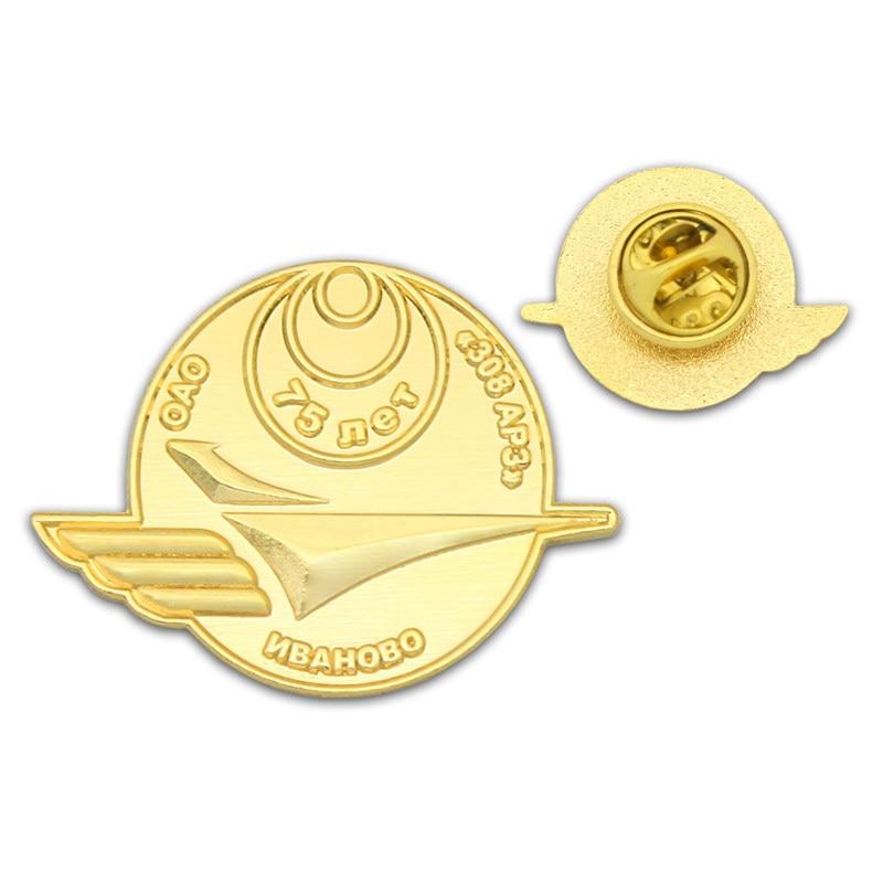 Gram Custom Blank Badge Plated Metallic Gold Back Butterfly Buckle