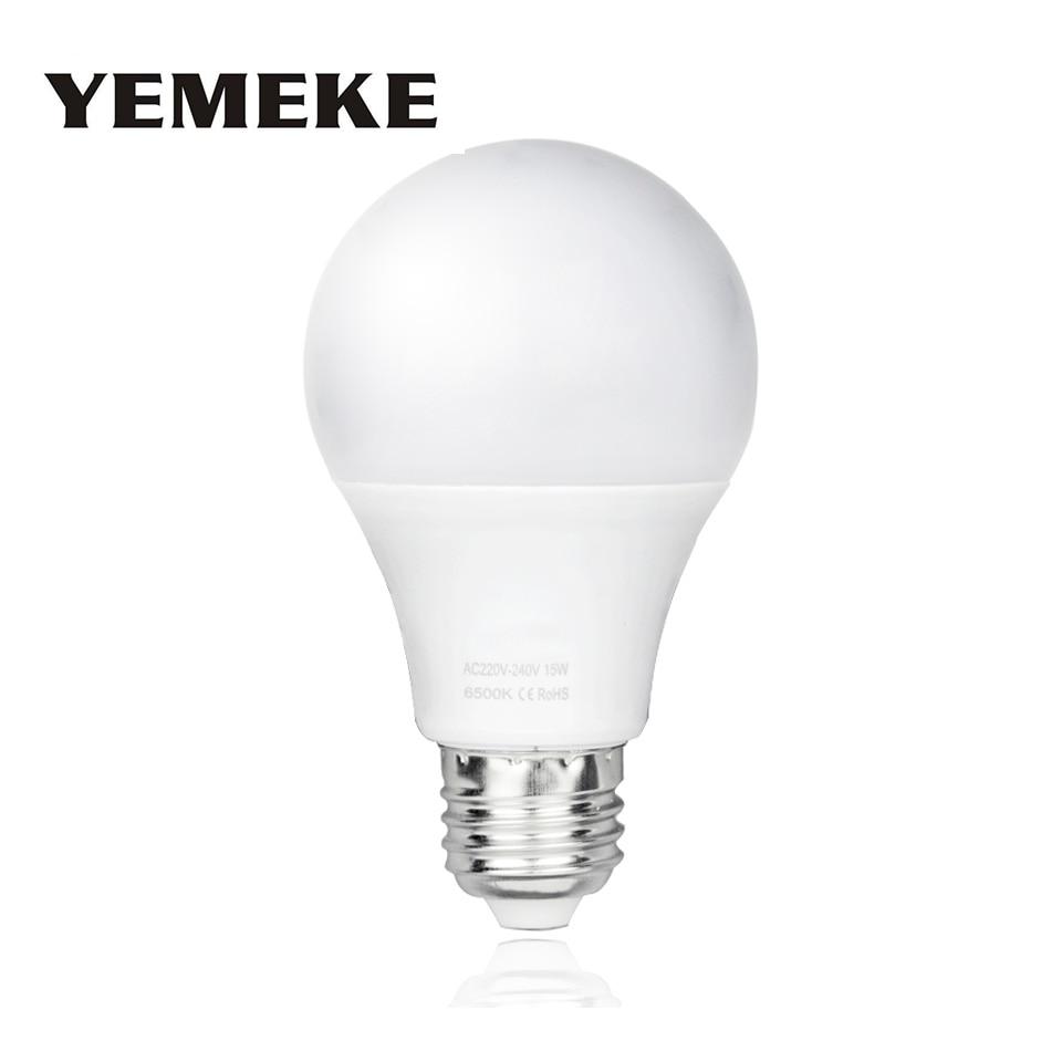 Высокая Мощность Bombilla E27 Светодиодный светильник AC220V светодиодный лампы 3 Вт/5 Вт/7 Вт/9 Вт /12 Вт/15 Вт лампада Светодиодные прожекторы Настольный светильник светодиодный энергосберегающие лампы